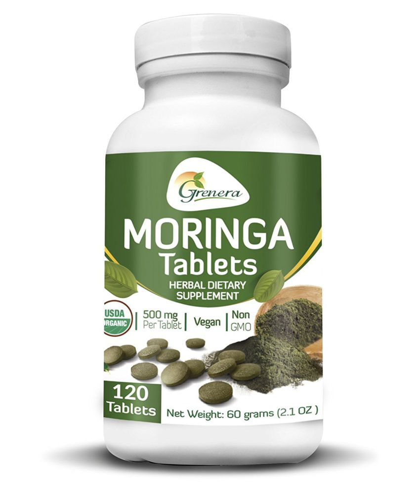 Grenera Raw Moringa 500 mg 120 tablet